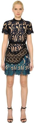 Prairie Patchwork Lace Mini Dress $465 thestylecure.com