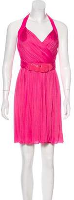 Versace Belted Halter Dress