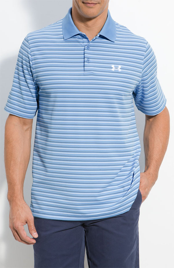 Under Armour 'Performance Stripe 2.0 HeatGear®' Polo