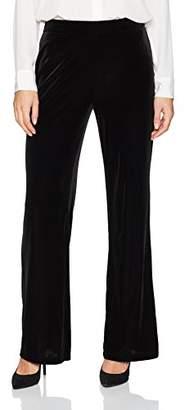 Kasper Women's Velvet Wide Leg Pant