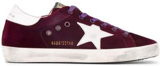 Golden Goose Burgundy Superstar Velvet sneakers