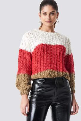 MANGO Cabin Sweater Red
