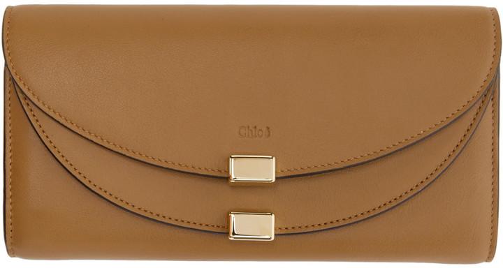 Chloé Chloé Brown Long Georgia Wallet