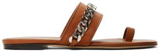 Burberry Tan Heidi Flat Sandals