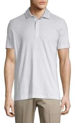 Saks Fifth Avenue Diamond-Print Cotton Polo
