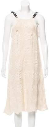 Y's Yohji Yamamoto Open Knit Midi Dress