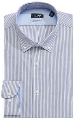 Izod Long Sleeve Slim Fit Stripe Shirt