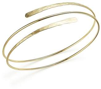 Bloomingdale's 14K Yellow Gold Double Hammered Overlap Cuff - 100% Exclusive