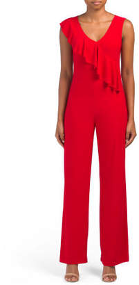 Made In Usa Cross Ruffle Jumpsuit