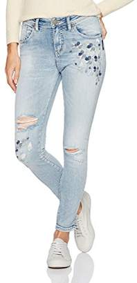 Silver Jeans Women's Izzy High-Rise Ankle Skinny Embroidery