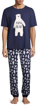 SLEEPY NITES Sleepy Nites Polar Bear 2 Piece Pajama Set -Men's
