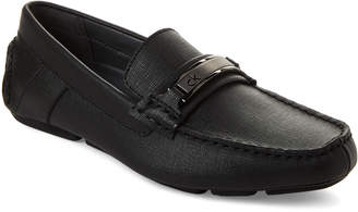 Calvin Klein Black Marcell Saffiano Driving Loafers