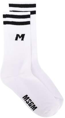 MSGM logo print socks