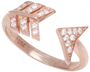 Max & Chloe Signature Rose Gold and CZ Arrow Ring