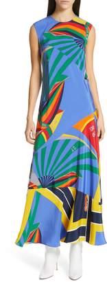 Polo Ralph Lauren Sleeveless Silk Maxi Dress