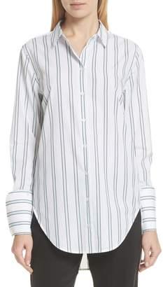 Equipment Essential Neopolitan Cuff Stripe Shirt