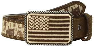 Ariat Sport Patriot w/ USA Flag Buckle Belt Men's Belts