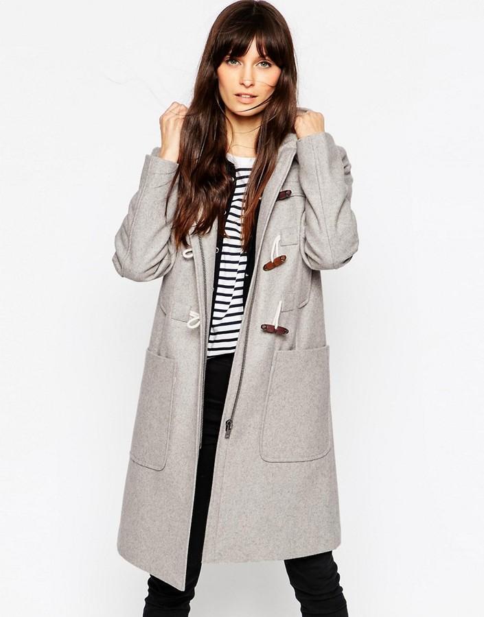 AsosASOS Duffle Coat in Longline