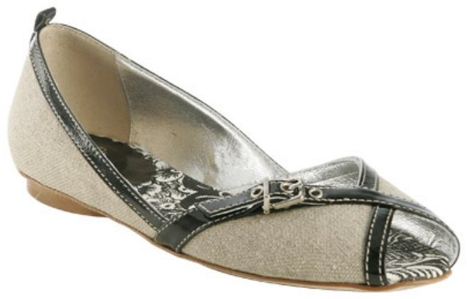 Rafe New York natural linen 'Sophia' peep toe flats