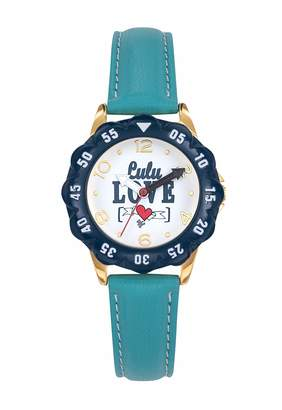 Lulu Castagnette Girl's Analogue Quartz Watch with Leather Strap 38863