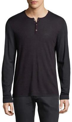 John Varvatos Stripe Henley Shirt