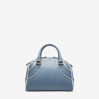 Bally Darlene Blue, Women's extra small calf leather bowling bag in jean