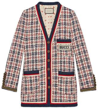 Gucci Check jacket with patch