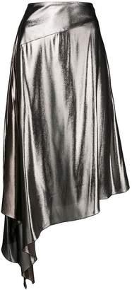 asymmetrical mid-length skirt