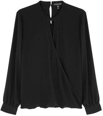 Eileen Fisher Black Silk Crepe Blouse