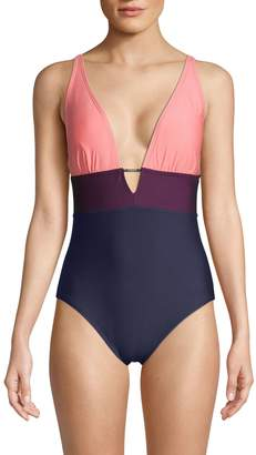 Calvin Klein Colorblock 1-Piece Swimsuit