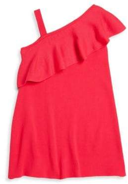 Milly Minis Little Girl's One Shoulder Ruffle Dress