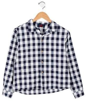 The Animals Observatory Boys' Check Pattern Shirt