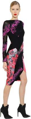 Antonio Berardi Floral Flocked Lace & Scuba Dress