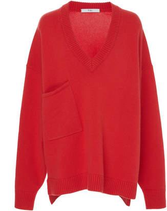 Tibi Cashmere V-Neck Sweater
