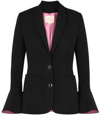 Roksanda Riva Black Flared-cuff Blazer