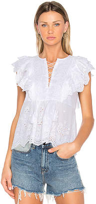 Ulla Johnson Monroe Top in White $356 thestylecure.com