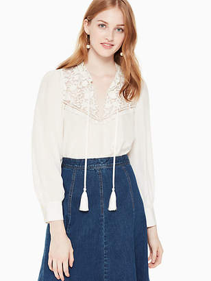 Kate Spade Embroidered long sleeve top