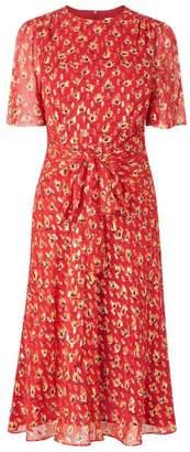 LK Bennett Eve Cranberry Silk Dress