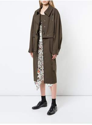 Jason Wu Grey By Convertible Trench Bomber Coat