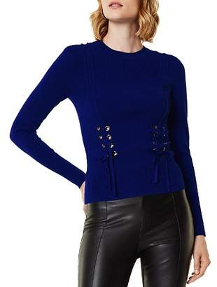 Karen Millen Lace-Up Sweater