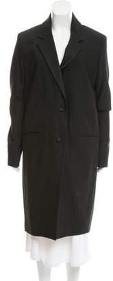 BLK DNM Notch-Lapel Long Coat