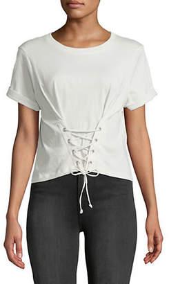 Joie Lizeth Lace-Up Cotton Top