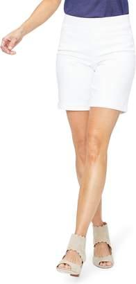 NYDJ Roll Cuff Pull-On Denim Shorts