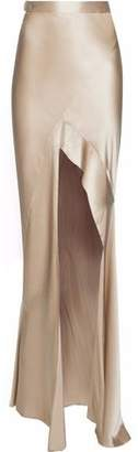 Michelle Mason Split-Front Silk-Charmeuse Maxi Skirt
