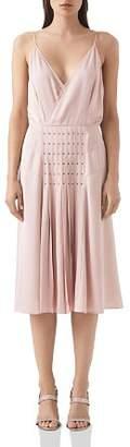 Reiss Daria Eyelet-Detail Dress