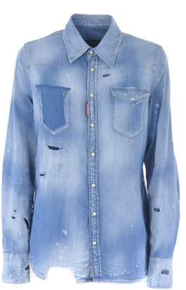 0a10f33825 Ripped Denim Shirt - ShopStyle
