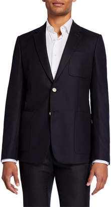 Valentino Men's Notch Lapel Wool-Blend Blazer