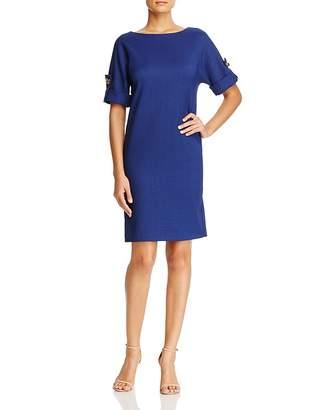 Badgley Mischka Turnlock Cuff Shift Dress