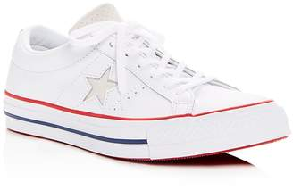 Converse One Star Leather Lace Up Sneakers