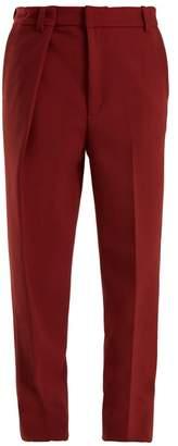 Martine Rose Asymmetric Mid Rise Straight Leg Trousers - Womens - Burgundy